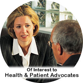 link to information for health and patient advocates